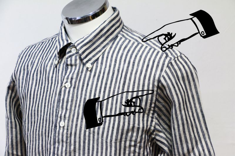 ソンタク SONTAKU JAPAN LINEN TWILL B.D SHIRT ジャパンリネンツイルボタンダウンシャツ