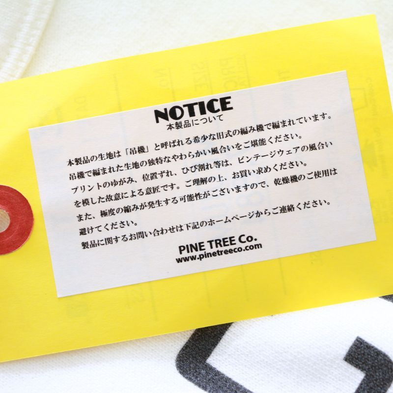 PINE TREE CO. パインツリー Print Tee MCM Tradition プリントTee