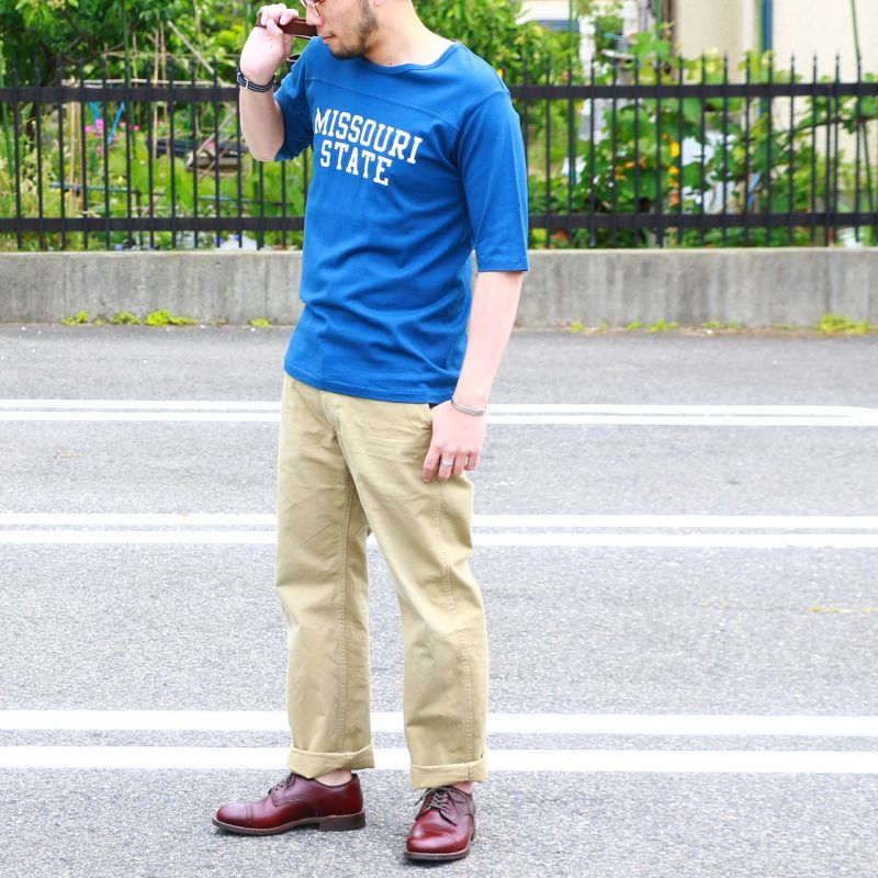 パインツリー PINE TREE CO. MISSOURI STATE 5分袖 FOOTBALL Tee  フットボールTee