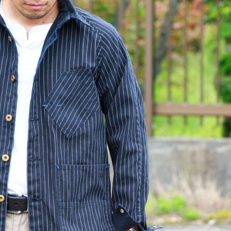TCB jeans TCBジーンズ TCB BLACK CAT JK BLACK WABASH カバーオール ブラックウォバッシュ