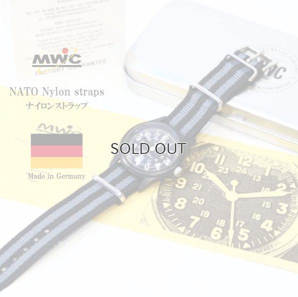 画像1: MWC NATO Nylon straps ナイロンストラップ 18mm JBグレイ