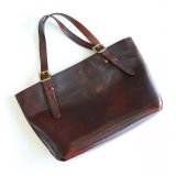 Aging sample   vasco  LEATHER TRAVEL TOTE BAG MEDIUM  BROWN
