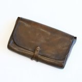 Aging sample   vasco  LEATHER 3WAY CLUTCH BAG  OLIVE