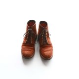 Aging sample   WHEEL ROBE  CAP TOE LACE UP BOOTS Last #314  CAMEL