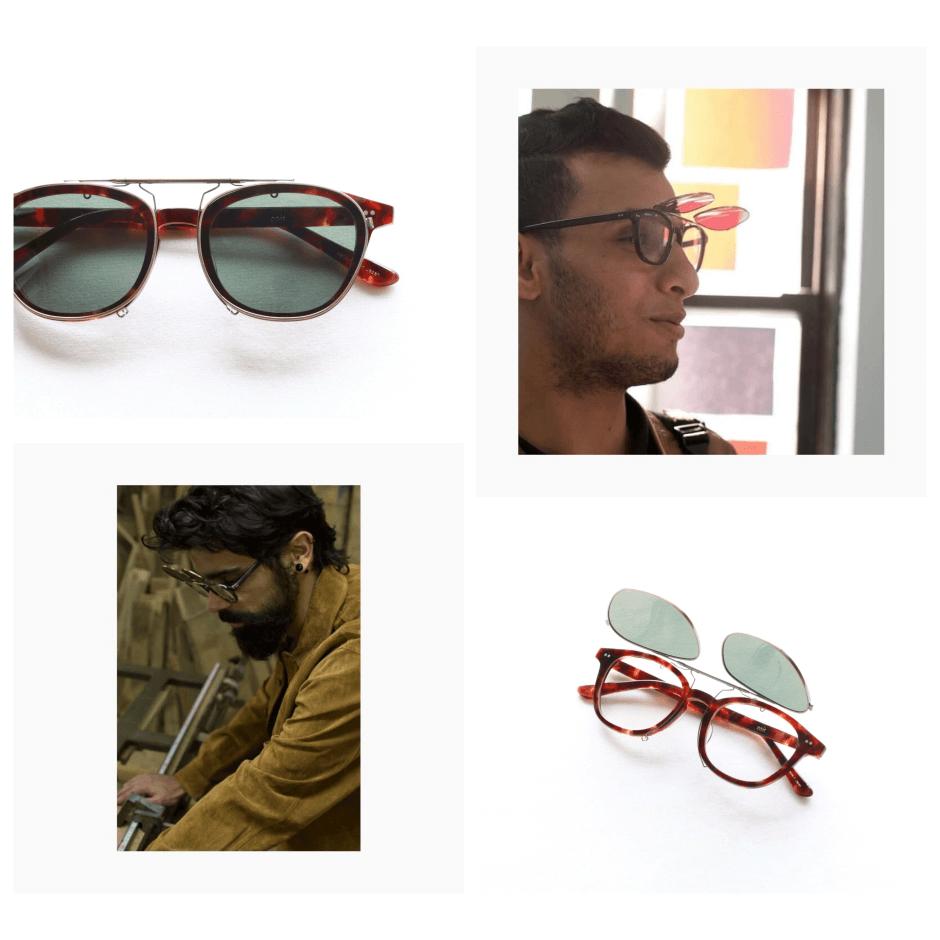 セルロイド眼鏡 kearny カーニー clip on クリップオン