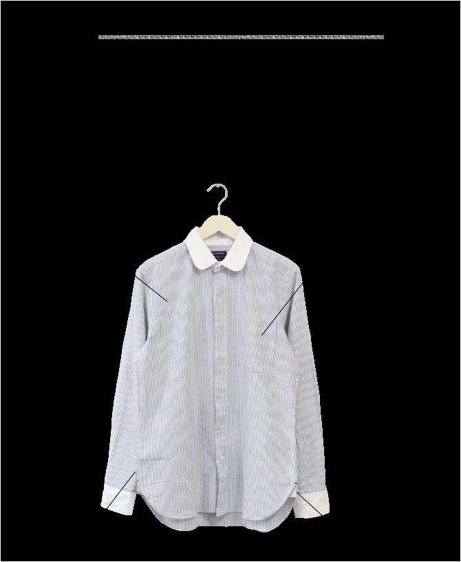ソンタク SONTAKU オックスフォードラウンドカラーシャツ