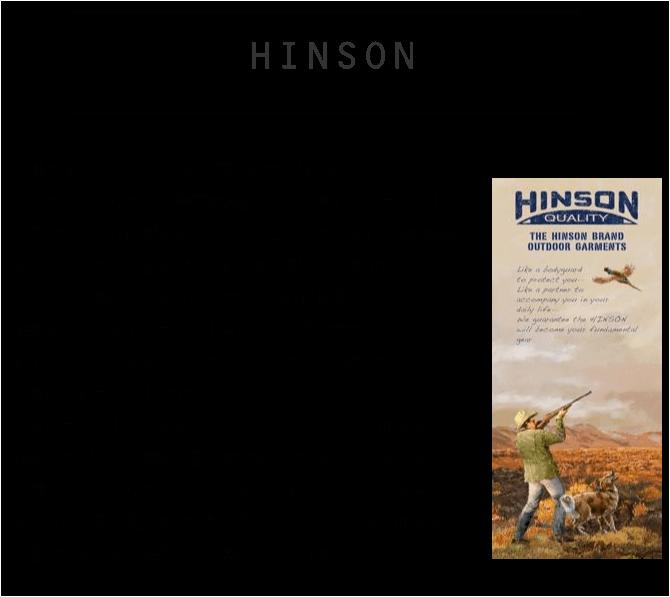 ヒンソン HINSON ハンティングマウンテンパーカ