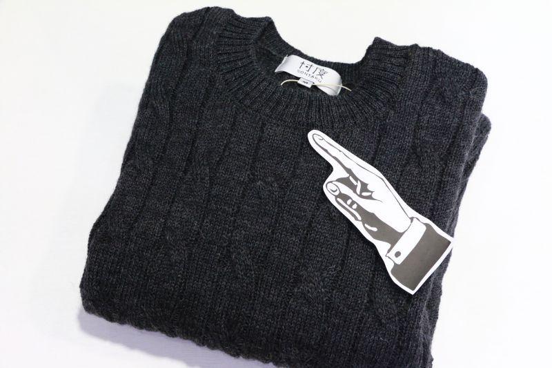 ソンタク SONTAKU SHETLAND CREW NECK SWEATER シェットランドクルーネックセーター