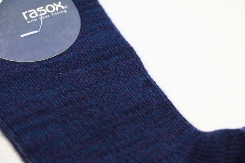 ラソックス rasox ウォームウールクルーソックス