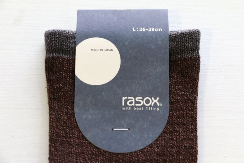ラソックス rasox ベーシックソックス