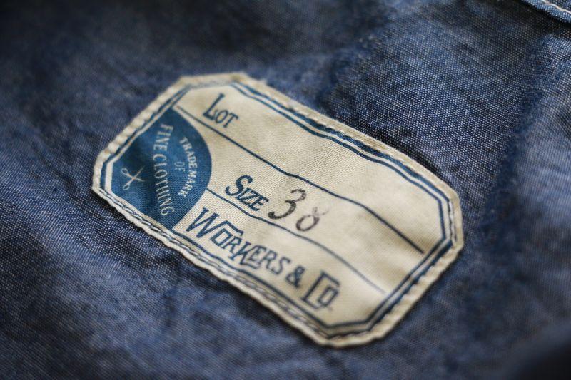 WORKERS ワーカーズ Sack Coat, Lt Chambray サックコート ライトシャンブレー
