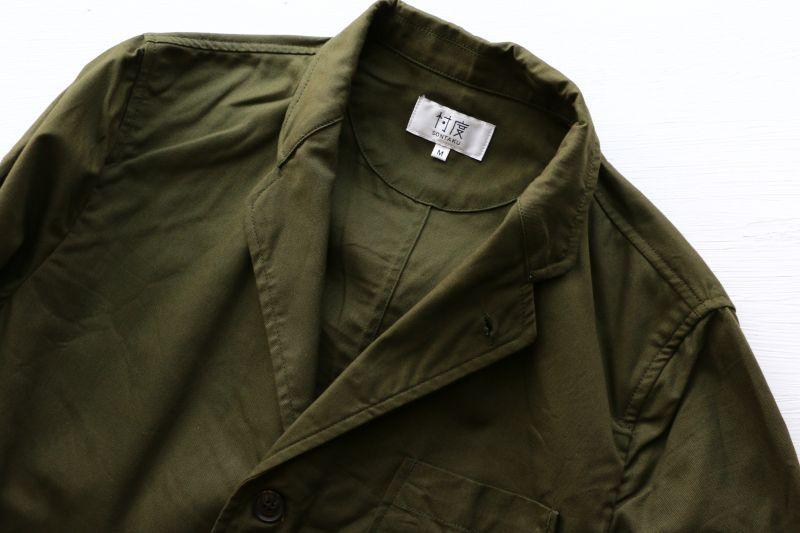 ソンタク SONTAKU Oxford washable 3button jacket オックスフォード洗えるシャツジャケット