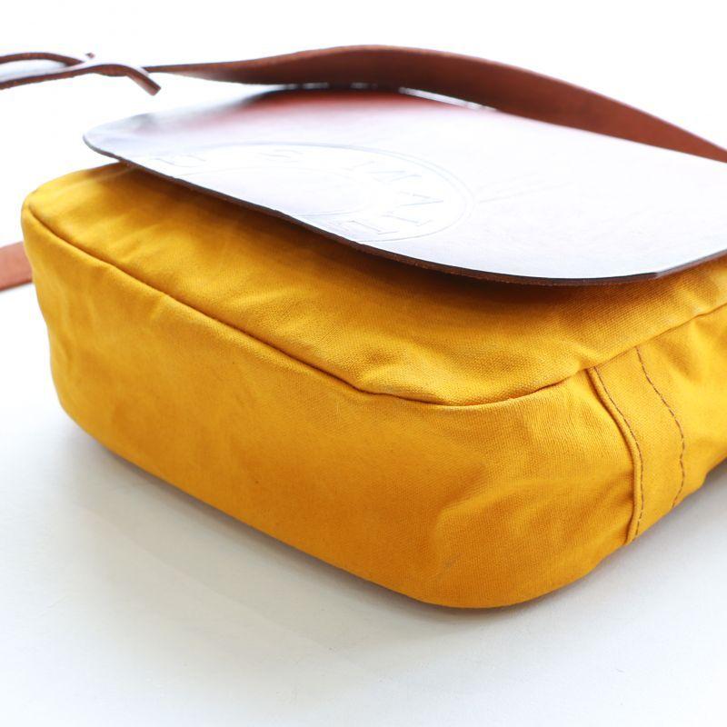 vasco ヴァスコ OILCANVAS×LEATHER MAIL BAG -SMALL キャンバス×レザー メールバッグ