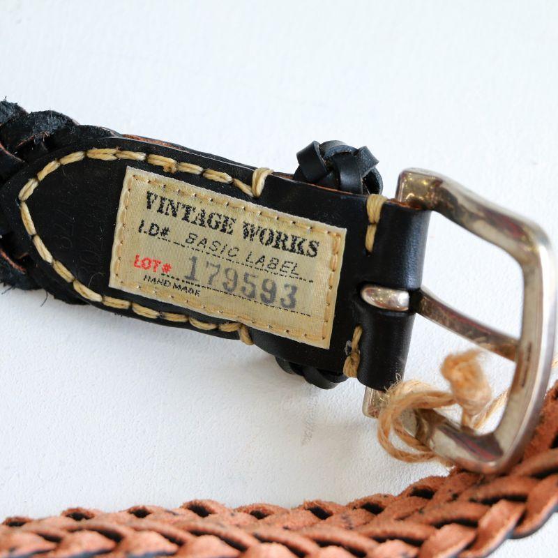 Vintage Works ヴィンテージワークス Leather belt レザーメッシュベルト