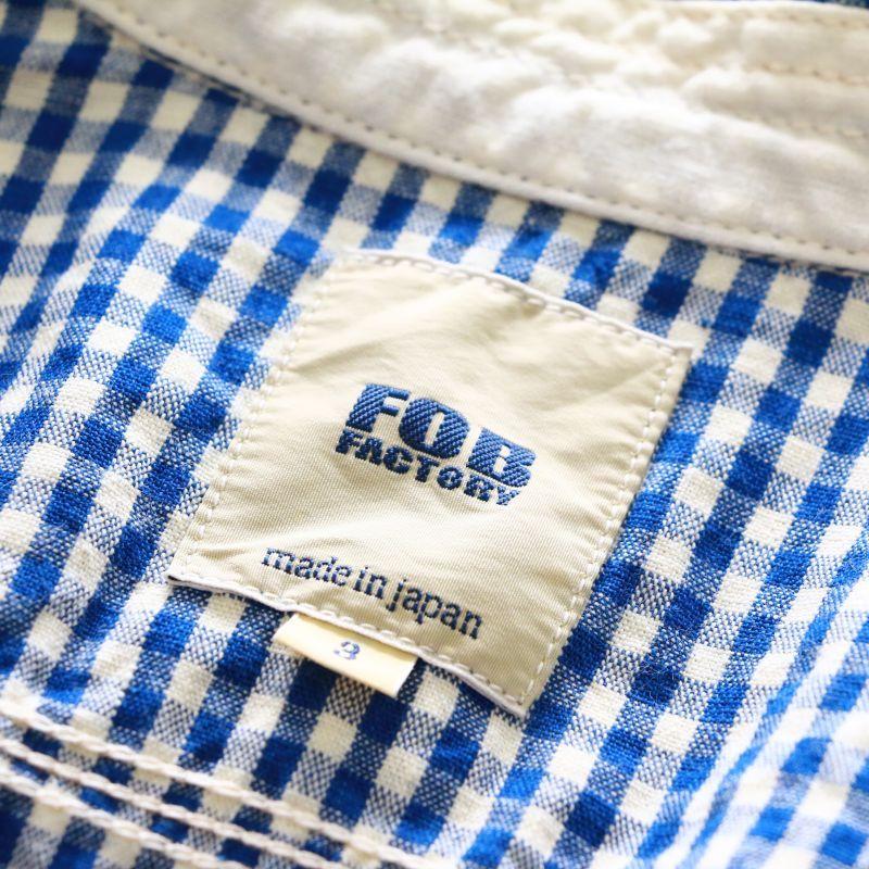 FOB FACTORY エフオービーファクトリー GINGHAM H/S WORK SHIRT ギンガムハーフスリーブワークシャツ F3266