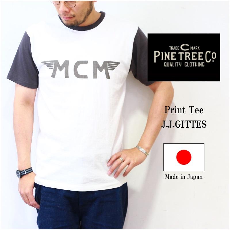 PINE TREE CO. パインツリー Print Tee J.J.GITTES プリントTee