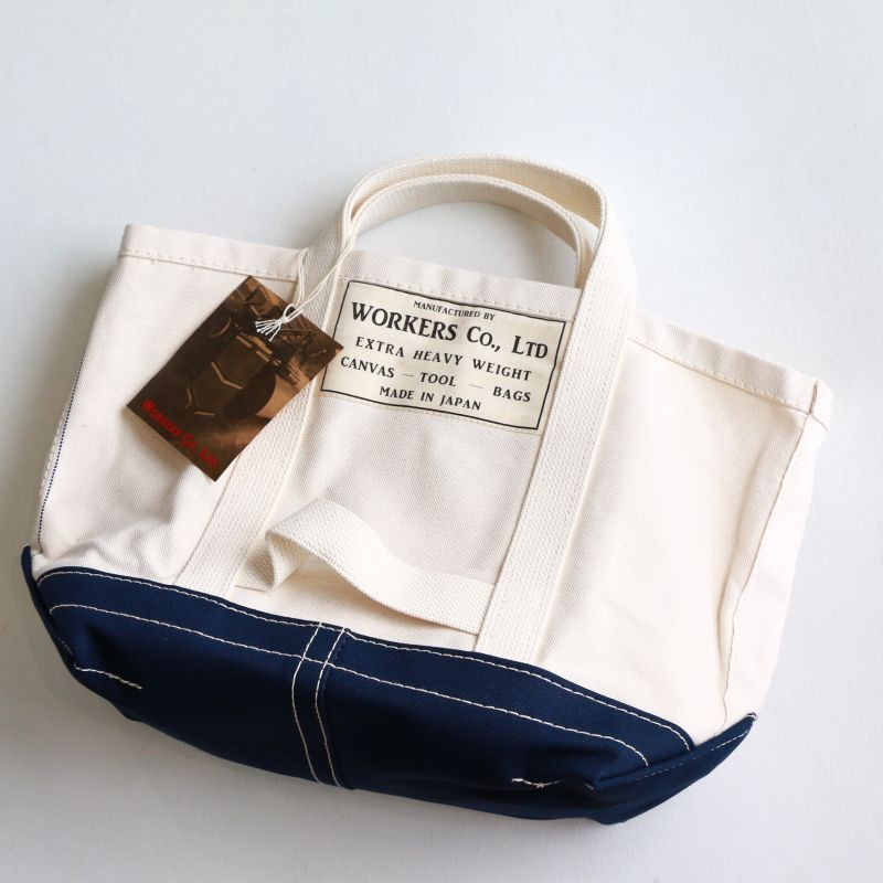 WORKERS ワーカーズ Tool Bag, Bottom Color, Ecru Navy, M-S ツールバッグ