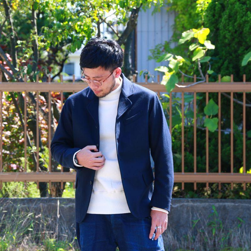WORKERS ワーカーズ USN Cotton Sweater, White USNコットンセーター ホワイト