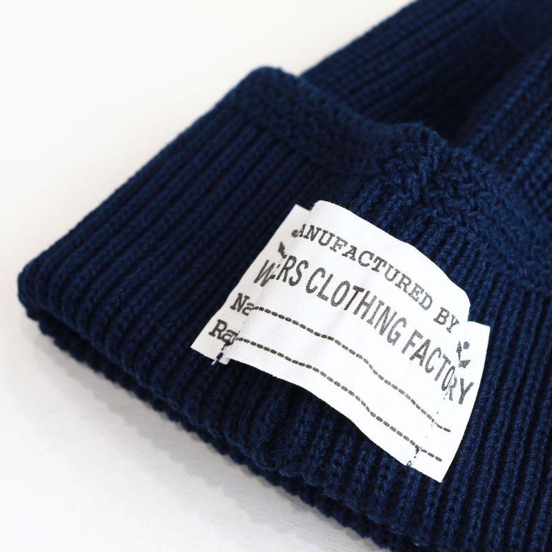 WORKERS ワーカーズ Cotton Knit Cap, Navy コットンニットキャップ ネイビー