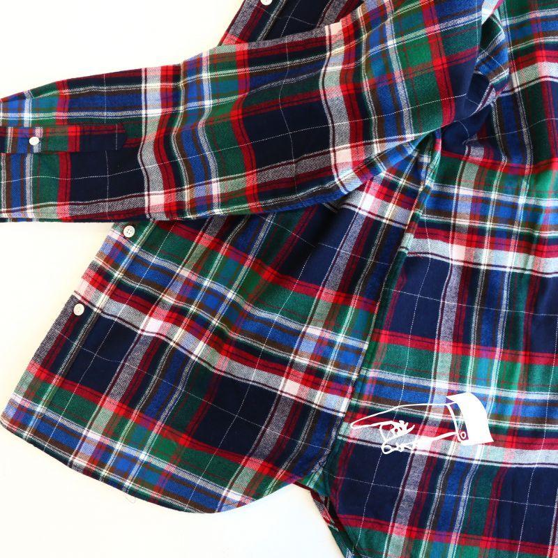 SONTAKU ソンタク FREE FLANNEL CHECK BD SHIRT フリーフランネルチェックボタンダウンシャツ グリーン