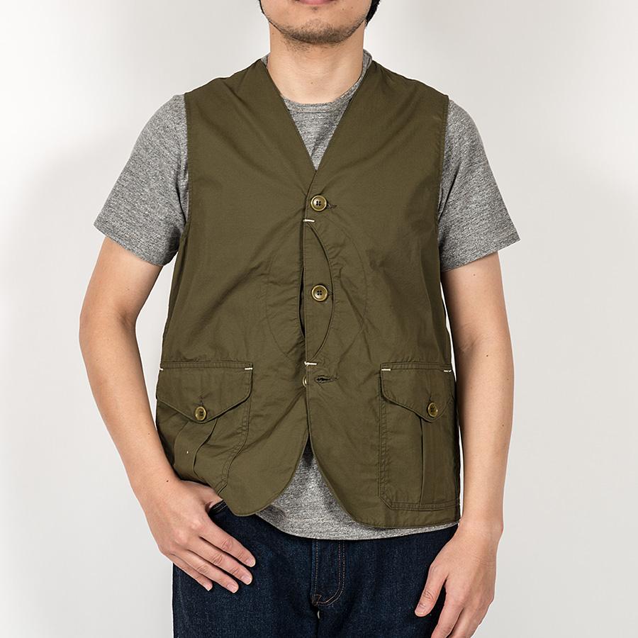 【3月入荷予定】 WORKERS<br>ワーカーズ Cruiser Vest, Olive CL Twill クルーザーベスト オリーブ