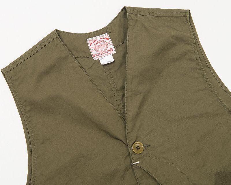 【3月入荷予定】WORKERS ワーカーズ Cruiser Vest, Beige CL Twill クルーザーベスト ベージュ