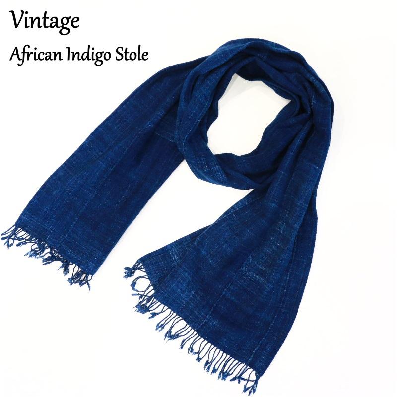 Vintage 30's African Indigo Stole アフリカンインディゴストール