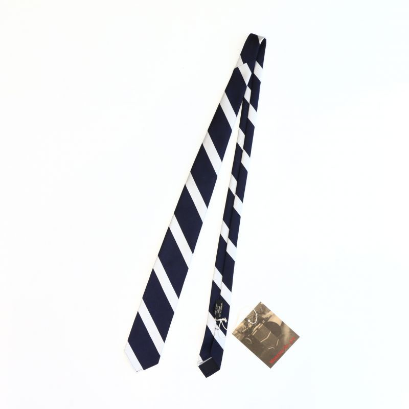 WORKERS ワーカーズ Silk Repp Tie シルクレップタイ Navy/Silver