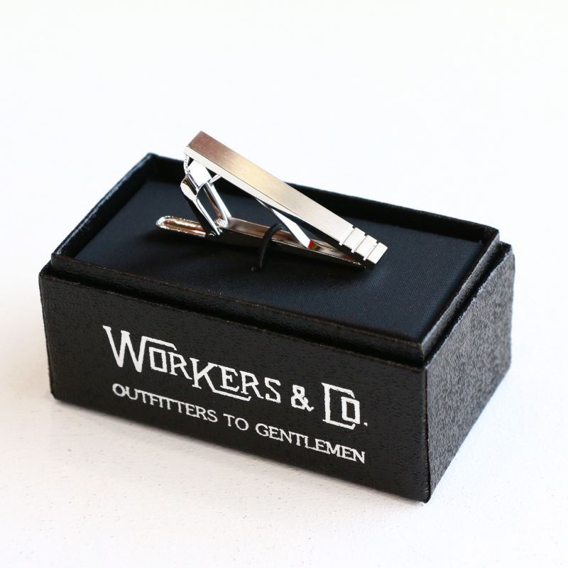 WORKERS ワーカーズ Tie Clip, Stripe タイクリップ ストライプ