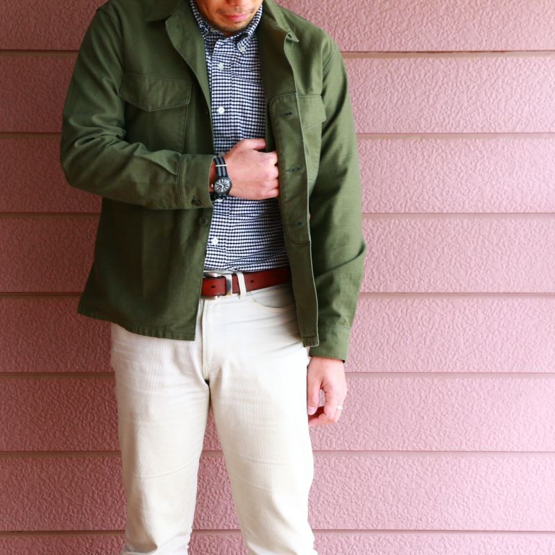 WORKERS ワーカーズ Fatigue Shirt, MIL-Reversed Sateen, OD ファティーグシャツ バックサテン