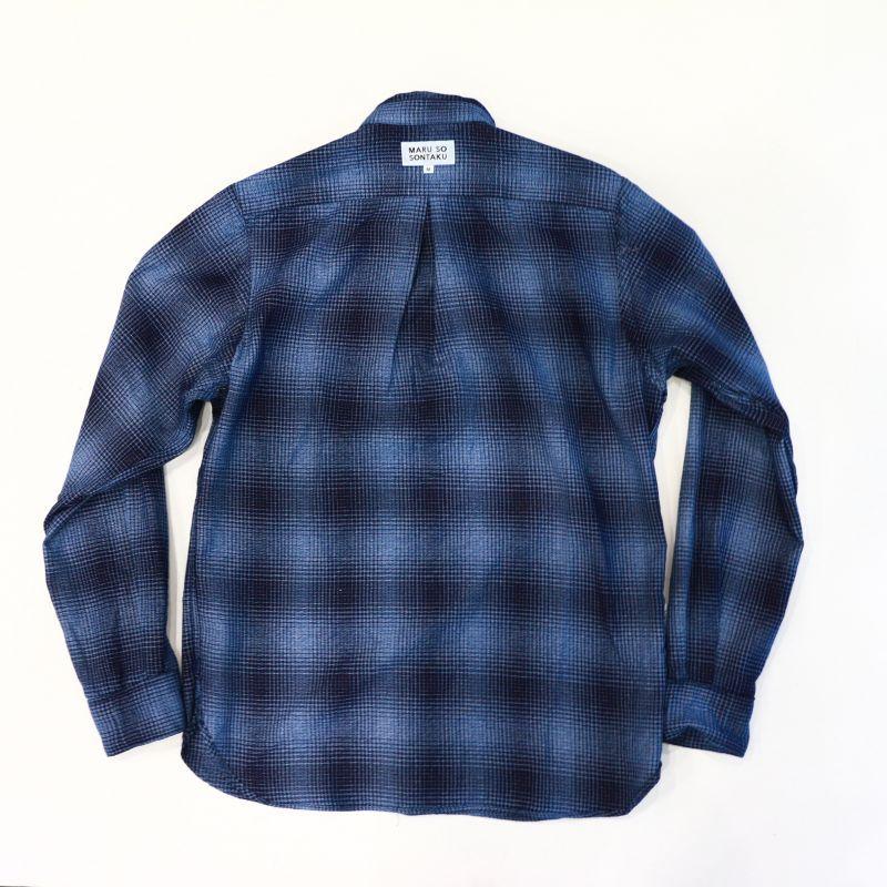 SONTAKU ソンタク Rope Indigo Dobby BD Shirt ロープインディゴドビーボタンダウンシャツ