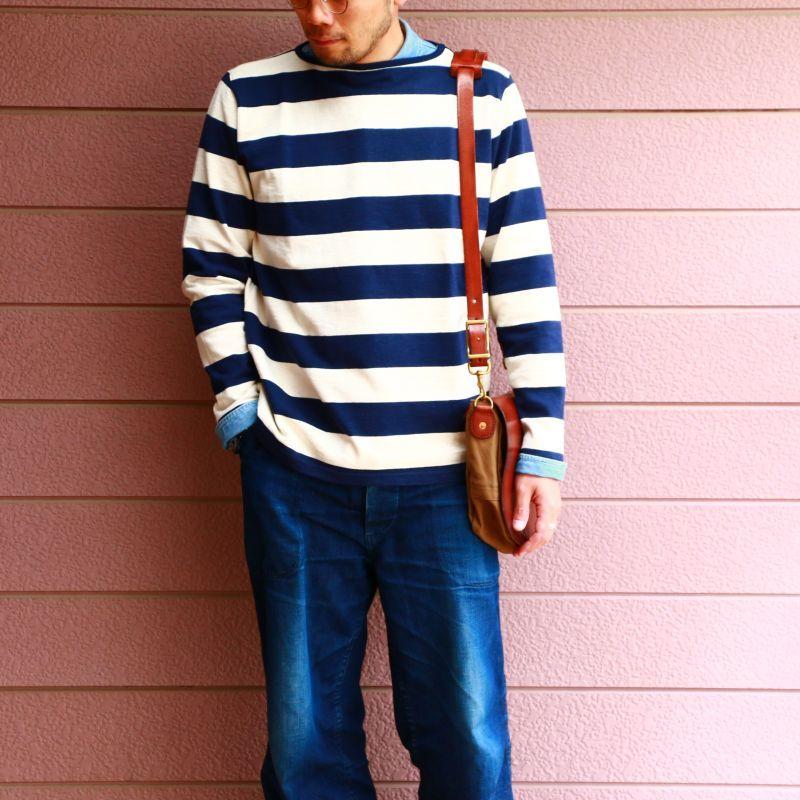 Tieasy Authentic Classic ティージー オーセンティック クラシック HDCS BOATNECK WIDE BORDER BASQUE SHIRT ボートネックワイドボーダーバスクシャツ