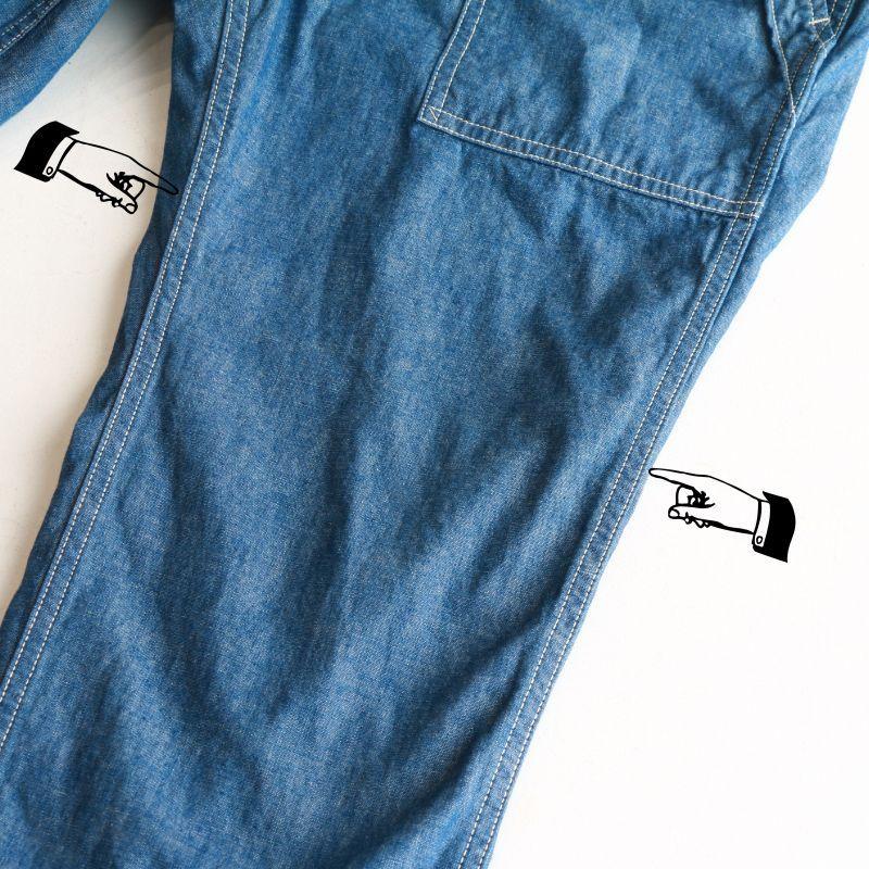 FOB FACTORY エフオービーファクトリー CHAMBRAY BAKER PANTS シャンブレーベイカーパンツ