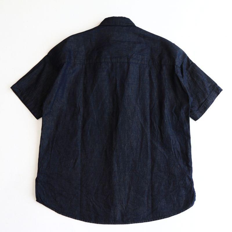 FOB FACTORY エフオービーファクトリー H/S BALL SHIRTS ハーフスリーブボールシャツ 6オンスリネンデニム F3416