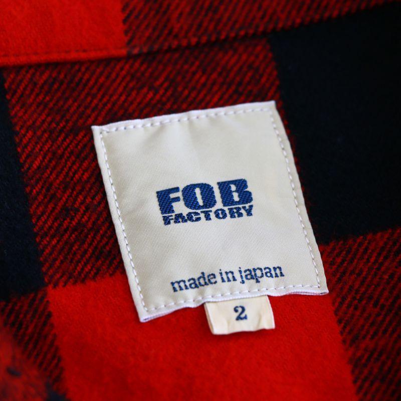 FOB FACTORY エフオービーファクトリー M-42 JAC SHIRTS バッファローチェックシャツ レッド F3422