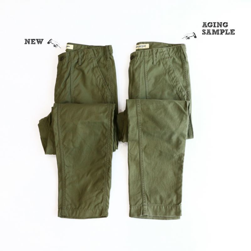 Aging sample FOB factory BAKER PANTS OLIVE