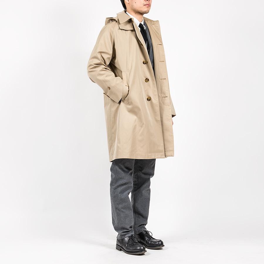 WORKERS ワーカーズ Bal Collar Coat Gabardine, Beige バルカラーコート ギャバジン ベージュ