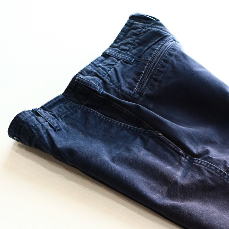 Aging sample FOB factory VINTAGE TROUSER NAVY