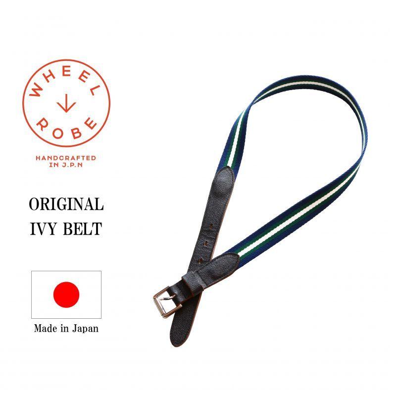 WHEEL ROBE ウィールローブ ORIGINAL IVY BELT オリジナルアイビーベルト ブラック Qurious キュリアス 新潟 通販