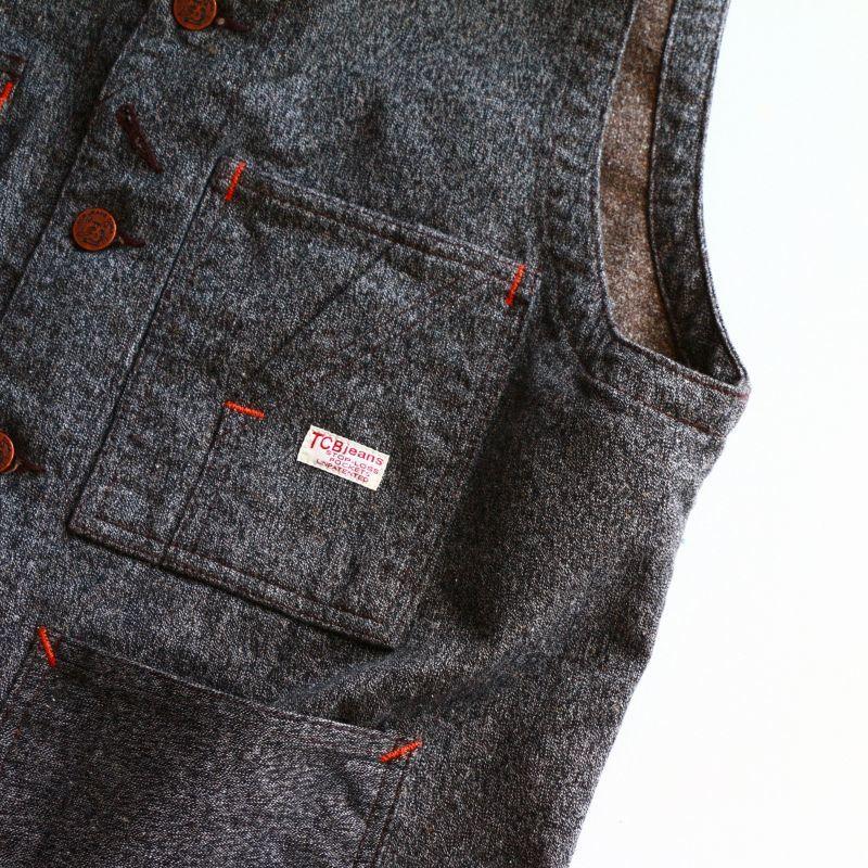 TCB jeans TCBジーンズ TABBYS VEST Covert Brown タビーズベスト コバートブラウン