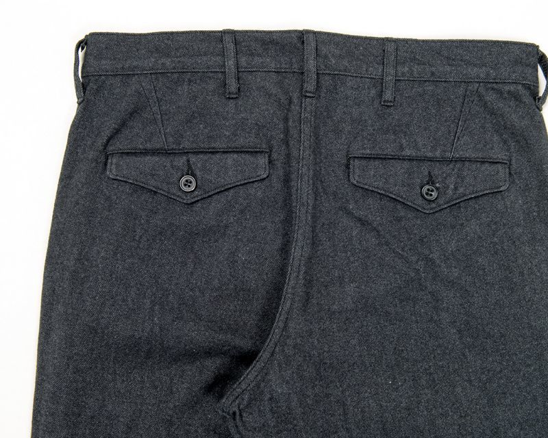 WORKERS ワーカーズ Maple Leaf Trousers Cotton Flannel, Chacoal メイプルリーフトラウザー コットンフランネル チャコール