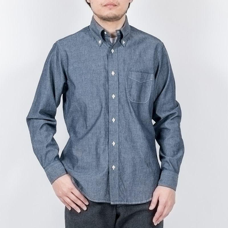 WORKERS ワーカーズ Modified BD Dark Blue Chambray モディファイドボタンダウンシャツ ダークブルーシャンブレー