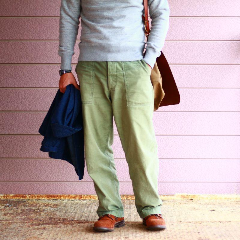 バーンズアウトフィッターズ BARNS OUTFITTERS L/S CREW SWEAT 吊り編みスウェットシャツ オックスグレイ Qurious キュリアス 新潟 通販