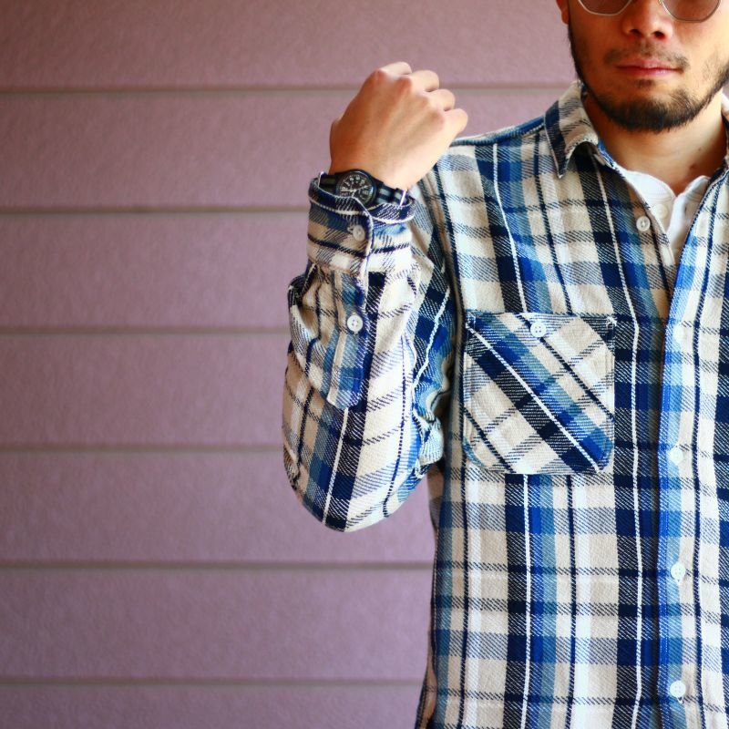 FOB FACTORY エフオービーファクトリー HEAVY NEL WORK SHIRTS ヘビーネルワークシャツ F3421
