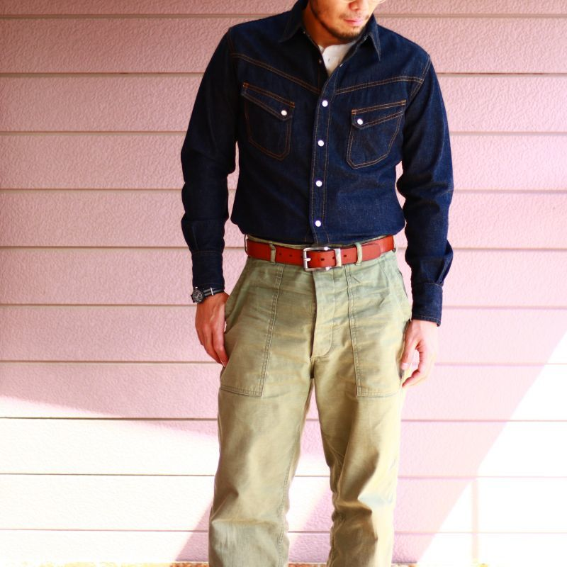 TCB jeans TCBジーンズ TCB 50's BAKER PT ベイカーパンツ オリーブ