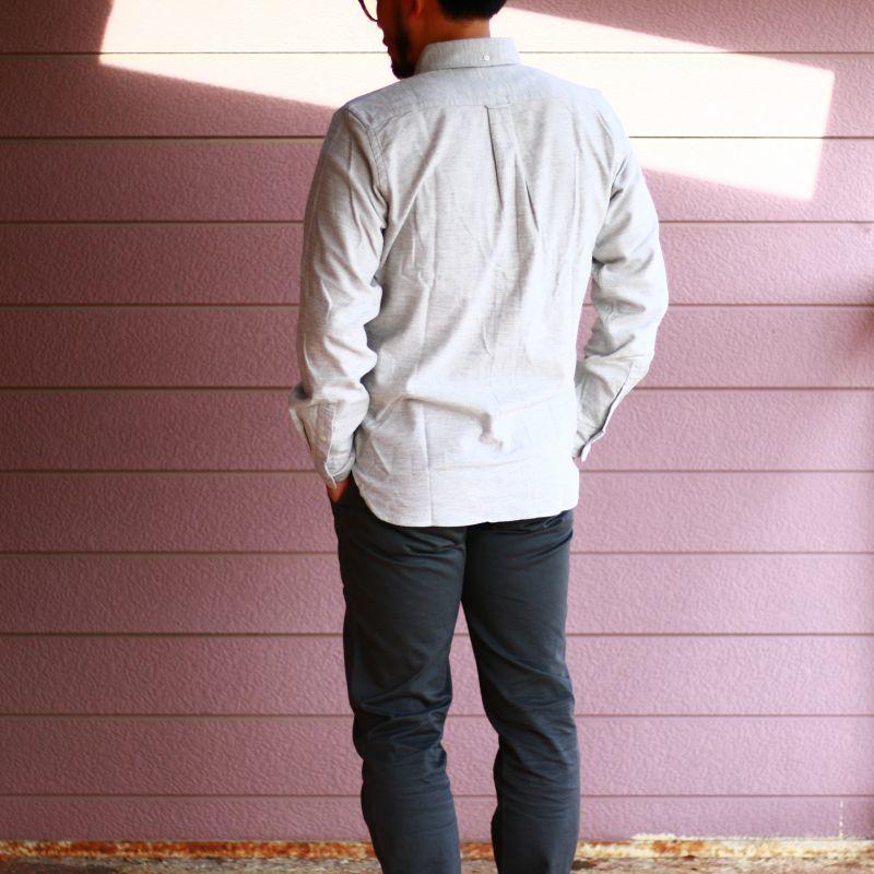 SONTAKU ソンタク FREEE FLANNEL BD SHIRT フリーフランネルボタンダウンシャツ Lグレイ Qurious キュリアス 新潟 通販