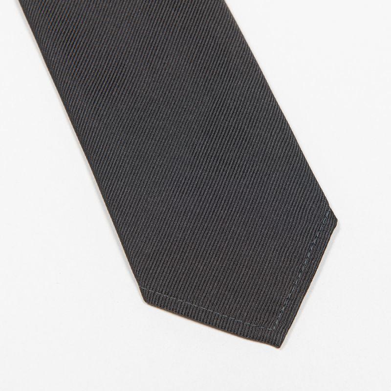 WORKERS ワーカーズ Silk Repp Tie, Solid Grey シルクレップタイ ソリッドグレイ
