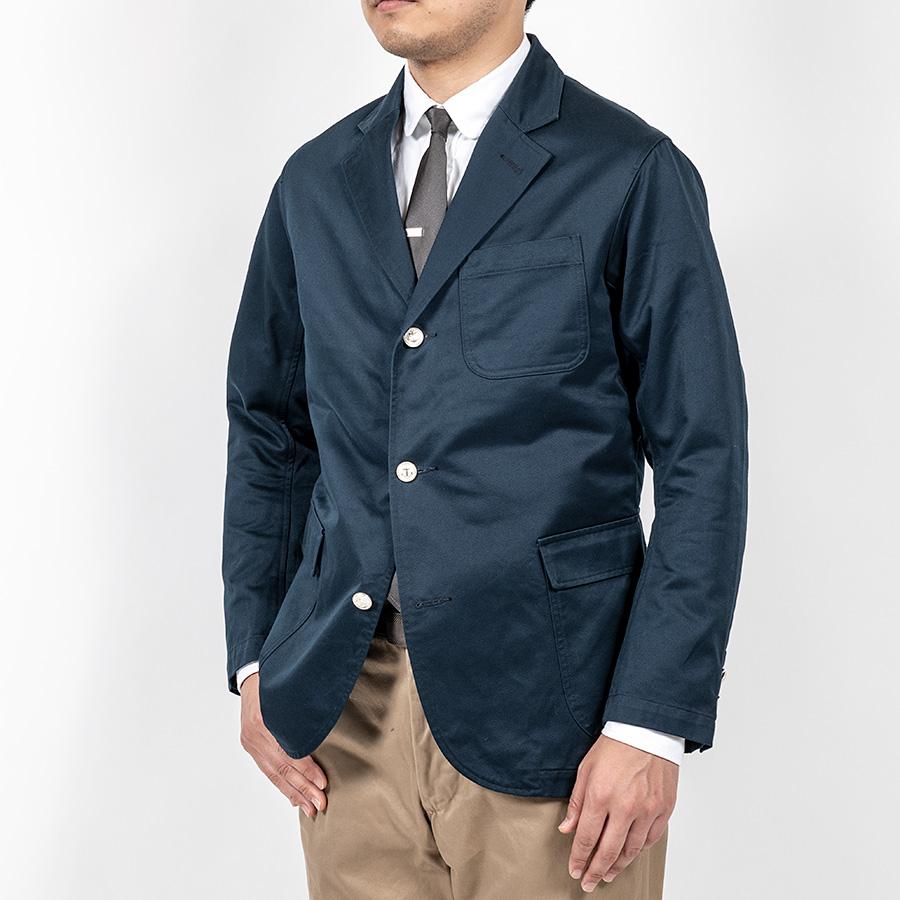 WORKERS ワーカーズ Blazer, Navy Peruvian Pima Cotton Chino ブレザー ピマコットンネイビーチノ