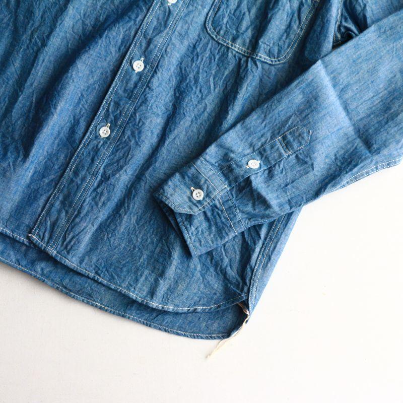 FOB FACTORY エフオービーファクトリー CHAMBRAY WORK SHIRTS シャンブレーワークシャツ F3378