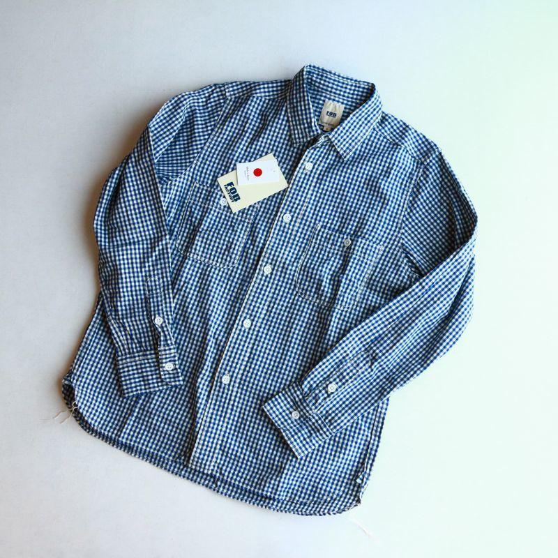 FOB FACTORY エフオービーファクトリー GINGHAM WORK SHIRTS ギンガムチェックワークシャツ F3397